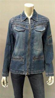 Focus Lifestyle Misses 10 Cotton Denim Jacket Blue Coat Designer