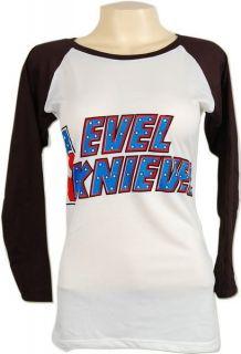 Evel Knievel Daredevil Motorcycle Skinny LS T Shirt M