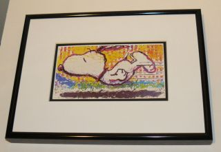 TOM EVERHART PEANUTS SNOOPY FAREWELL PROMO PRINT CHARLES SCHULZ