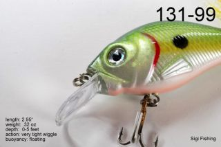 of Two 2.9 Tennessee Shad Bass Pike Trout Fishing Lure Bait Tackle