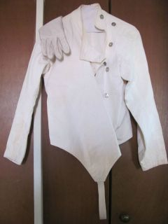 SANTELLI FENCING OUTFIT CLOTHES JACKET COAT & LEATHER GLOVE GAUNTLET