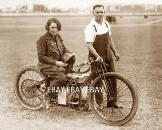 Girl Woman Lady Motorcycle Racer Fay Taylour DT5 500 CC Photo