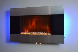 36 Wall Mounted Electric Fireplace Heater Blacklight 1500W 5200BTUS