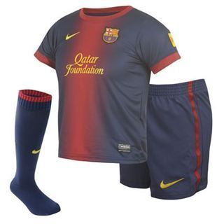 New Barcelona Mini Home Kit 2012 13 Age 3 7 Years