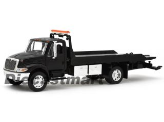 INTERNATIONAL DURASTAR 4400 FLATBED TOW TRUCK NEW DIECAST MODEL BLACK