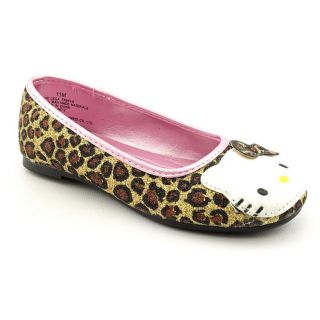 Kitty Leila Youth Kids Girls Size 1 Gold Synthetic Flats Shoes