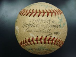 RARE 1961 Tampa Tarpons Cincinnati Reds Team Signed Baseball w Pete