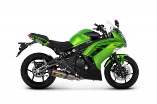 06 12 Kawasaki ER 6 N Akrapovic EC Racing Full Exhaust Titanium