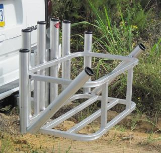 Fishing rod holder for suv or truck hitch fishing rod for Hitch fishing rod holder