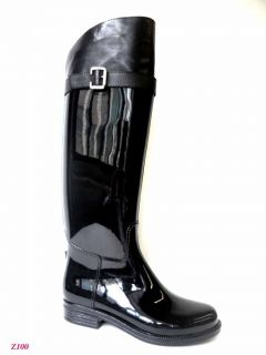 Henry Ferrera Black Tall Riding Rain Boot Sizes 7 11 Riding Boot