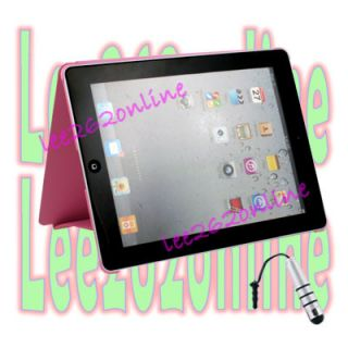 Pink Book Smart Flip Case Cover Stand For Apple iPad 3rd Generation