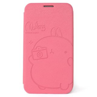 Rabbit Flip Cover Leather Case Skin Protector Pink for Galaxy Note