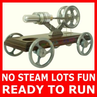BRAND NEW HOT AIR STIRLING ENGINE CAR/VEHICLE READY RUN MOTOR