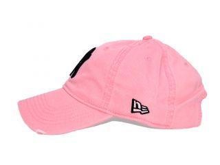 New Era NY Yankees Distressed Baseball Cap Hat Pink Color