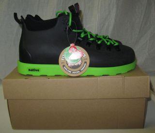 New Mens Native Fitzsimmons Lightweight Black Green Boots Pick Size