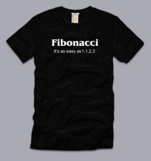 Fibonacci Its as Easy as 1 1 2 3 T Shirt 3XL Funny Math Pi Humor Geek