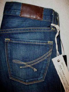 Size 0 L34 Low Rise Stretch Premium Flare Jeans New Dark