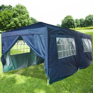 Peaktop 20x10 EZ Pop Up Party Tent Canopy Gazebo 6 Walls w Free Carry