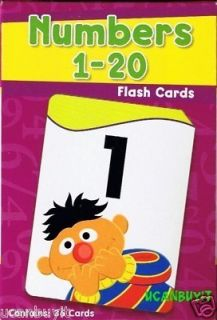 Horizons Sesame Street Friends Numbers 1 20 Flash Cards Ages 3