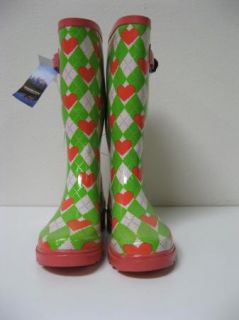 Henry Ferrera New York Hearts Argyle Rain Snow Boots 5