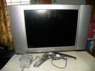 sharp aquos lcd flat screen tv 20 model lc20 b2ua for parts or repair