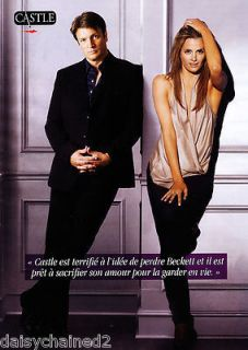 STANA KATIC NATHAN FILLION CASTLE NEW pin up mini poster 04126