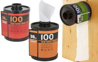 Film Tube Paper Towel Box Tissue Dispenser Toilet Roll Holder Storage