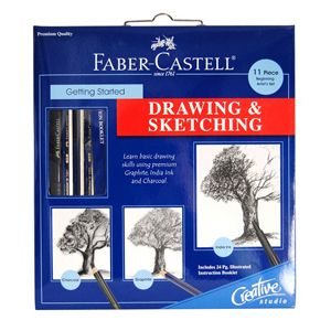 Faber Castell Drawing Sketching Get Started Art Kit Artist Draw 800052
