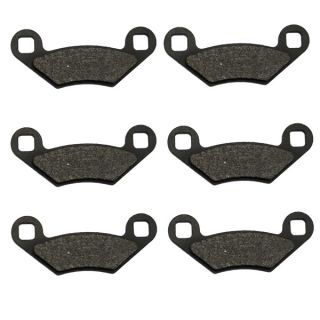 Front & Rear Carbon Kevlar Brake Pads   2011 Polaris ATV 550 Sportsman