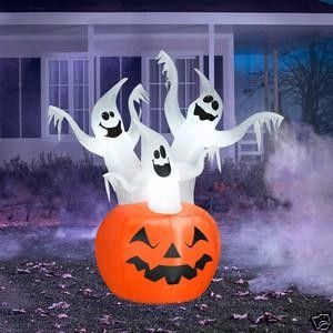 New 6 54 ft Ghost Pumpkin Halloween Airblown Inflatable Outdoor