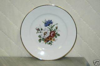 JKW Fine Porcelain Floral 7 3 4 Plate