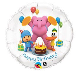 Pocoyo Happy Birthday Party Fiesta Mylar Foil Balloons Set of 3