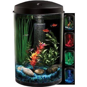 Aquarius New Aquaview 360 Aquarium Kit with LED Light 3 Gallon