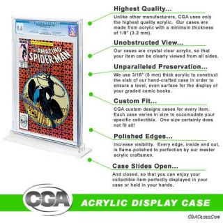 Acrylic Display Case Stand for CGC Graded Comic Books