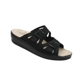 Fly Flot Dana Sandals Slides Shoes Black Womens Sz