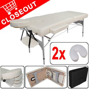 Flame Retardant Foam PU Portable Massage Table Aluminum Bed Spa