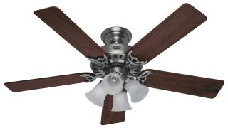 Hunter The Studio Series 52 Ceiling Fan Model 20184 in Antique Pewter