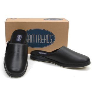 New NIB FOAMTREADS Troon Black Comfort Slip On Slippers SHOES Men 7.5