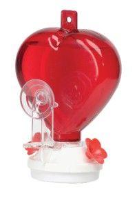 new 12 oz heart shaped window hummingbird feeder