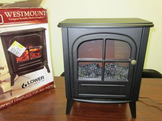 Westmount Portable Electric Fireplace Retail $69 99