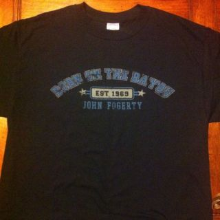 RARE John Fogerty Born on The Bayou World Concert Tour Shirt New CCR L