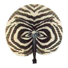 Zebra Print Folding Fan