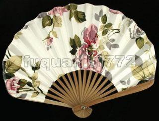 Hand Held Bamboo Silk Folding Fan Wedding Favor 47321
