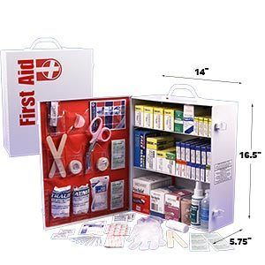 First Aid Cabinet 3 Shelf Emergency Survival Kit 1045 Pieces