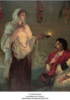 FLORENCE NIGHTINGALE NURSE POSTER NURSING VINTAGE LADY WITH THE LAMP