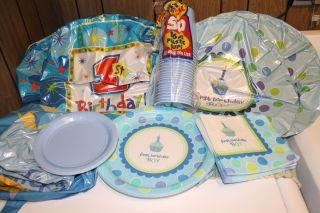 First Birthday Boy Party Supplies Bundle