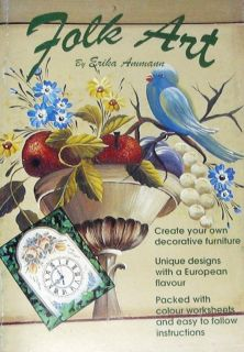Folk Art by Erika Ammann Tole Painting Pattern Book New