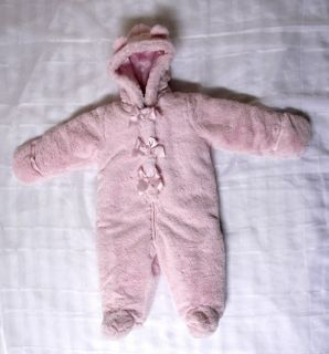 New  First Impressions Pink Teddy Bear Overalls 9