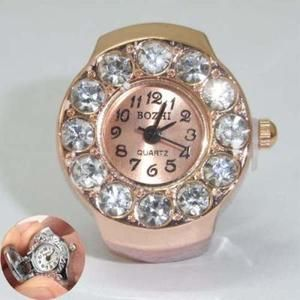 Small Gift Finger Ring Watch Jewelry 0 9 12pcs Crystal Watch