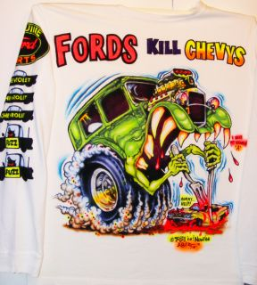 Johnny Ace Art Airbrushed T Shirt Rat Fink Ed Big Daddy Roth Ford Race